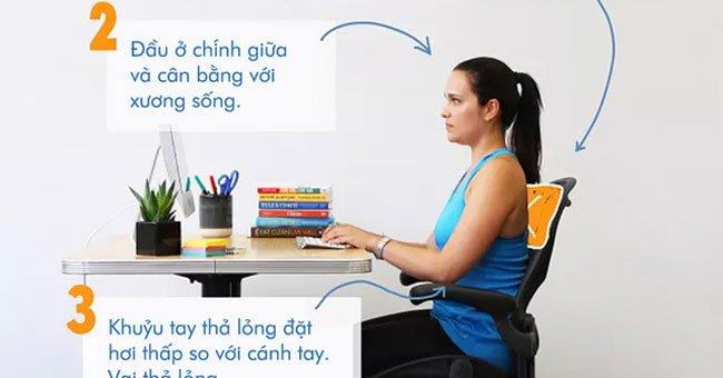 """Tư thế ngồi làm việc """"ĐÚNG CHUẨN"""" cho dân văn phòng không đau lưng"""