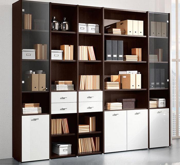 Tủ trang trí kết hợp tủ đựng hồ sơ làm kệ văn phòng đẹp phù hợp cho nhiều văn phòng