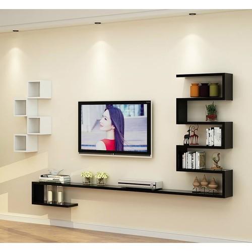 Kệ trang trí tivi rất linh hoạt lắp đặt trong sử dụng ở phòng khách gia đình